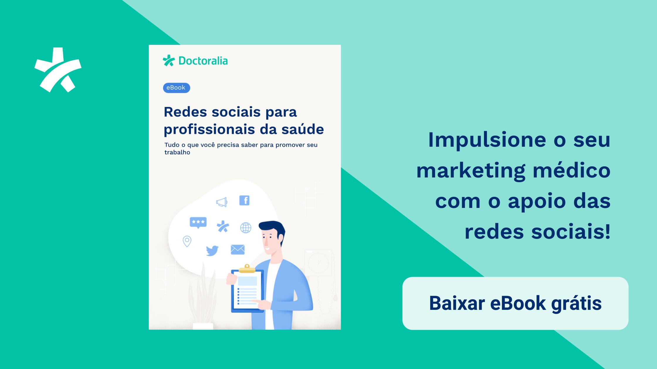 eBook gratuito sobre redes sociais como estratégia de marketing médico