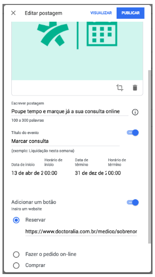 Doctoralia-Google-Meu-Negocio-Integrar
