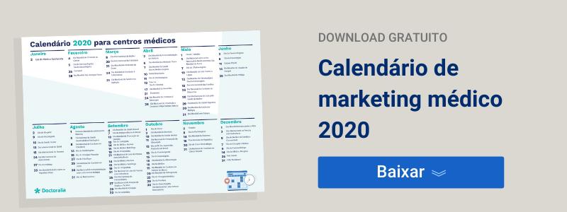 Calendário de marketing médico 2020 - Doctoralia