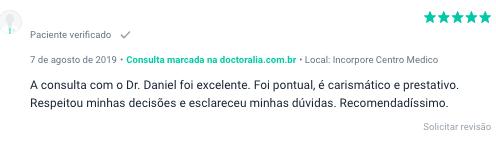 Opiniao de Paciente na Doctoralia - Dr Daniel Pereira Mandarino