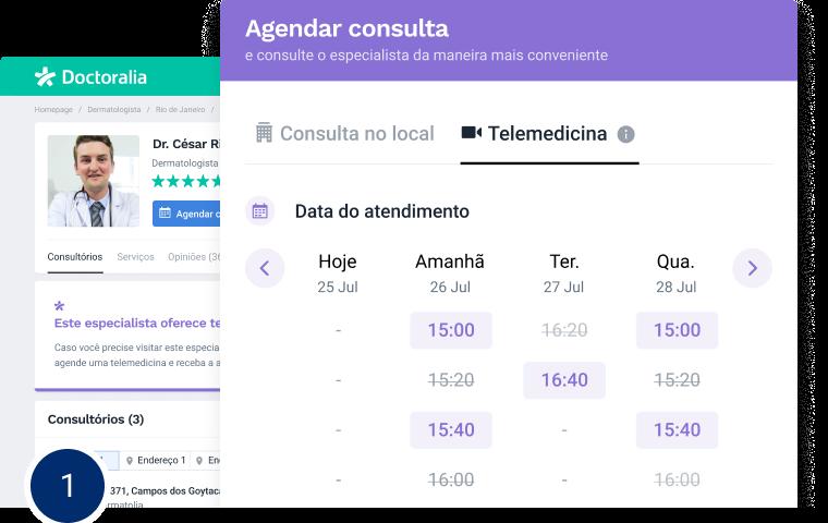 Agendamento online por Telemedicina