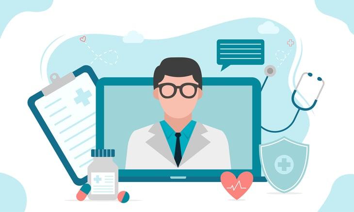 Ilustração de um site, uma importante estratégia de marketing médico