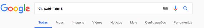 Busca de médicos no Google